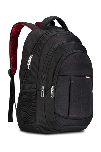 BP-L100 Sırt Çantası 15.6 inç Uyumlu Laptop Notebook Sırt Çantası-Siyah
