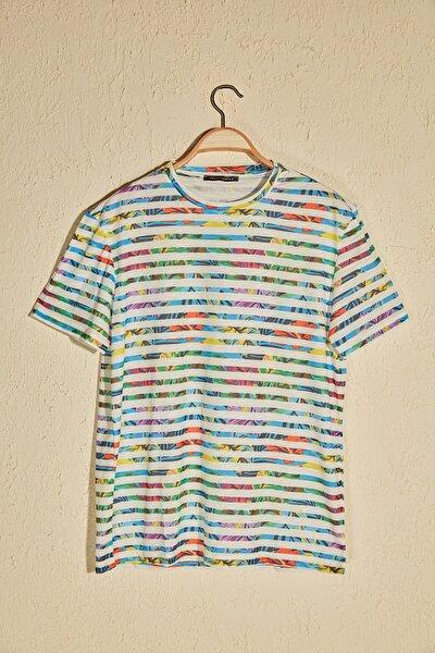 Çok Renkli Erkek Slim Fit T-Shirt TMNSS20TS0945
