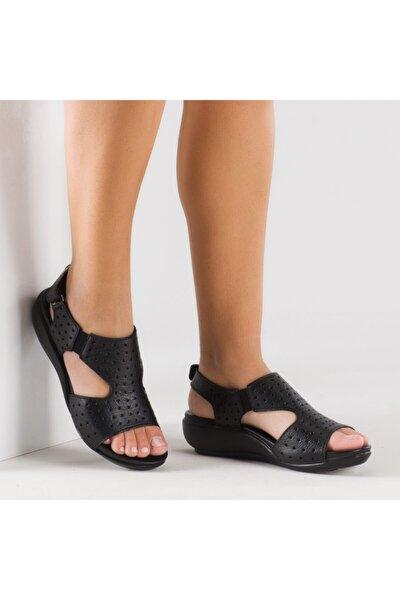 Kadın Ortopedik Sandalet Siyah
