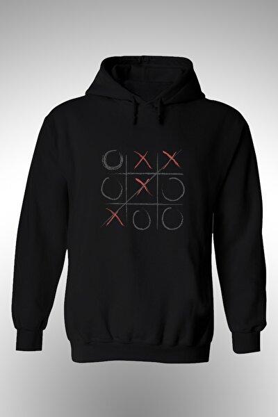 Xox Oyunu Baskılı Kapşonlu Sweat