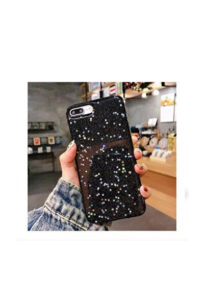 Iphone 7 Plus 8 Plus Uyumlu Siyah Simli Silikon Telefon Kılıfı