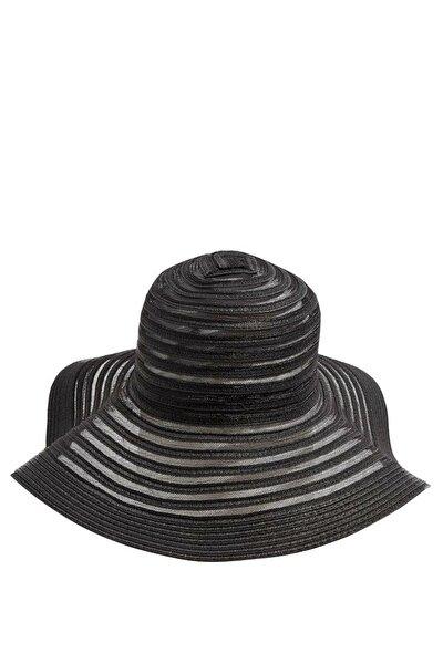 Kadın Desenli Hasır Şapka