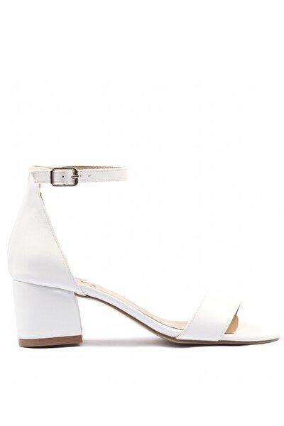 Beyaz Kadın Sandalet 01SAY179560A900