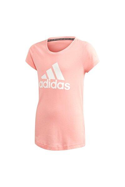 Kız Çocuk Pembe Must Haves Badge T-Shirt Fm6512