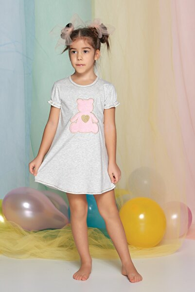 Kız Çocuk Kar Melanj Tunik