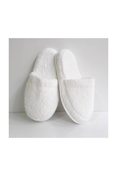 Yüksek Tabanlı Havlu Terlik, Banyo Terliği Beyaz 37-38