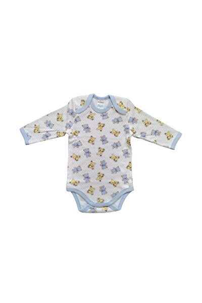 Erkek Bebek Uzun Kol Desenli Body