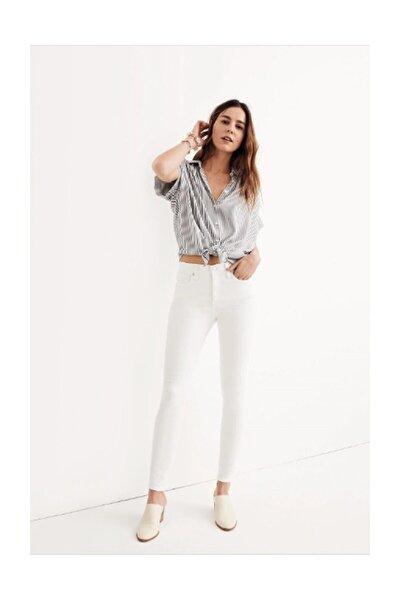Beyaz Yüksek Bel Skinny Jeans