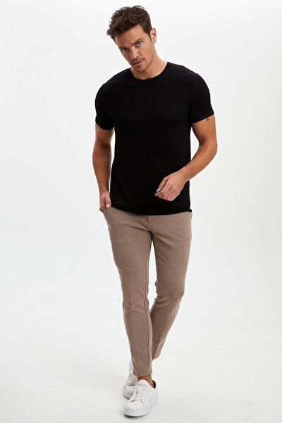 Erkek Siyah Slim Fit T-Shirt