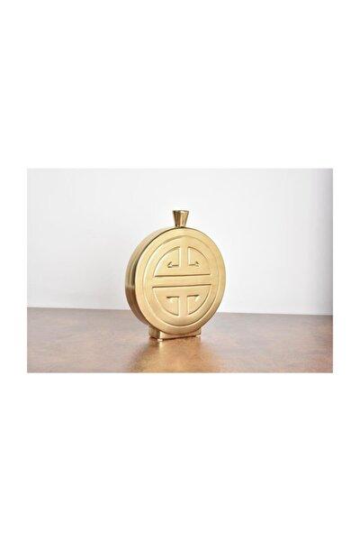 Prowhıte Yuvarlak Vazo Gold Küçük 27*7*31 Cm