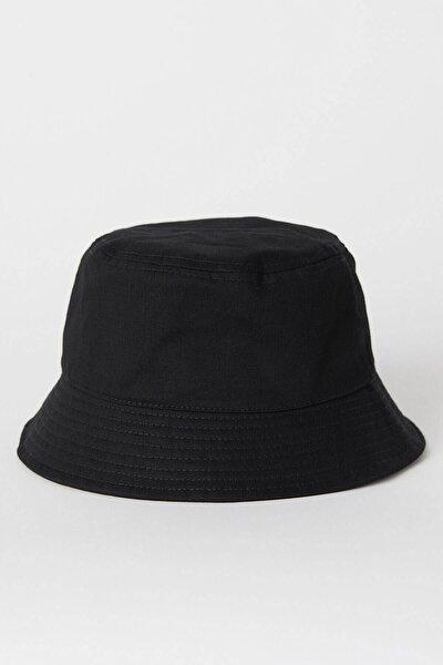 Kadın Siyah Uv Korumalı  Bucket Şapka