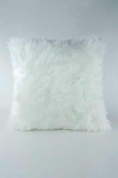 Peluş Kırlent Kılıfı Beyaz