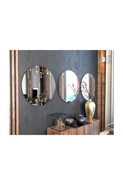 Store 3 Parçalı Dekoratif Yuvarlak Şekilli Ayna