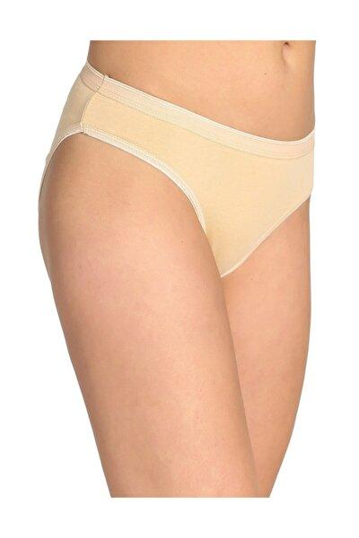Kadın 6'lı Paket Bikini Slip Külot (Ten)