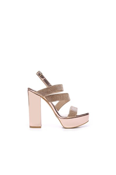 Hakiki Deri Pembe Kadın Topuklu Ayakkabı 539 3097 BN AYK