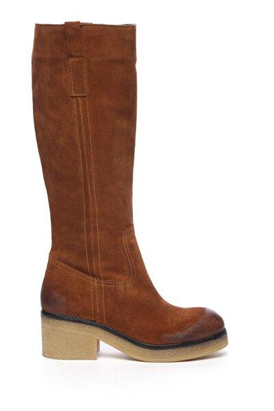 Hakiki Deri Kahverengi Kadın Casual Çizme 453 1110 C BN CIZME