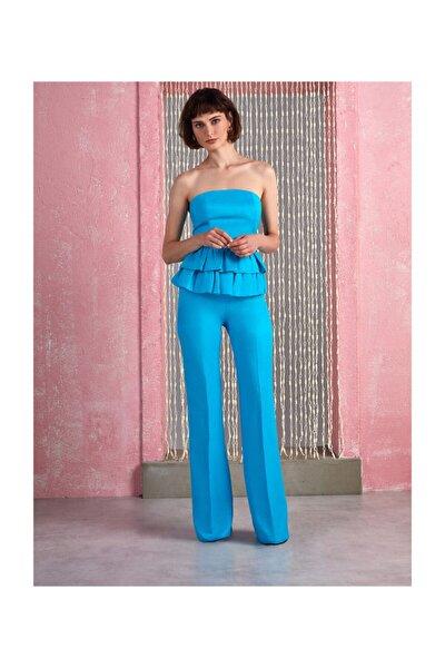 Kadın Saten Yüzeyli Ispanyol Paça Pantolon