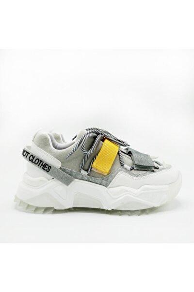 Kadın Beyaz Multi Halat Bağ Detaylı Spor Ayakkabı