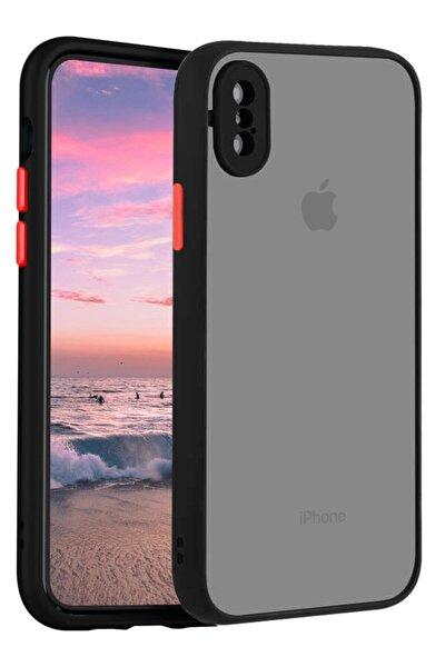 Iphone X Kılıf Şeffaf Mat Kamera Köşe Korumalı Pürüzsüz Sert