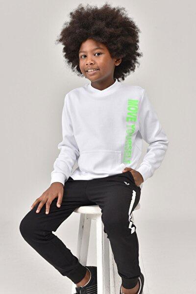 Beyaz Unisex Çocuk Sweatshirt FW -1490