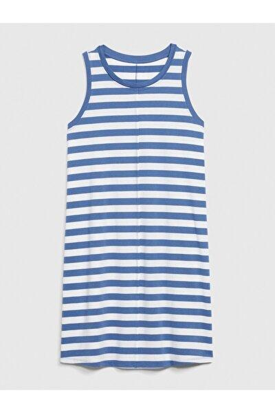 Kadın Mavi Kolsuz Swing Elbise 583595