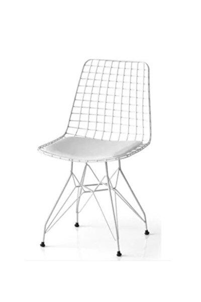 Beyaz Tel Sandalye