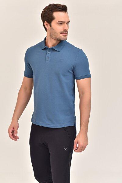 Mavi Büyük Beden Polo Yaka Erkek T-Shirt GS-8983