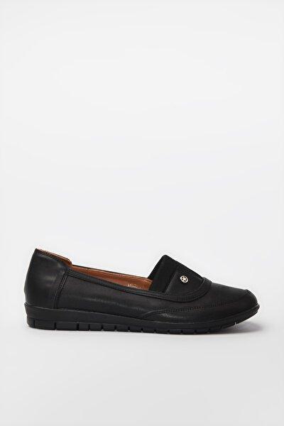 Siyah Kadın Loafer Ayakkabı 01AYY188170A100
