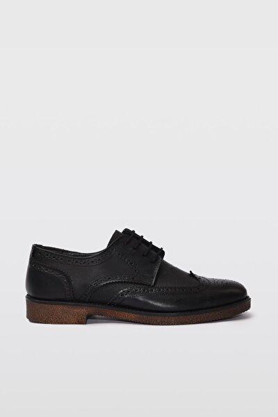 Hakiki Deri Siyah Erkek Casual Ayakkabı 02AYY189730A100