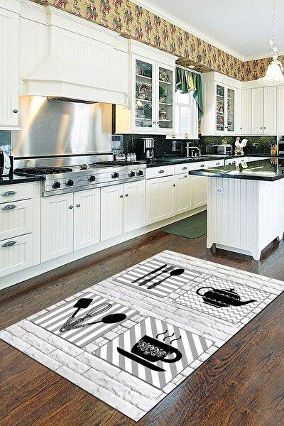 Kaymaz Taban Makinede Yıkanabilir Mutfak Halısı 80 x 120 Ar170