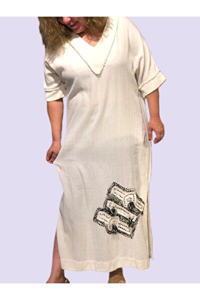 Kadın Etnik Beyaz Elbise