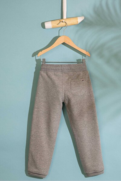 Grı Erkek Cocuk Orme Pantolon
