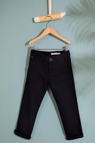 Lacıvert Erkek Cocuk Dokuma Spor Pantolon