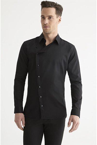 G 1445 Slim Fit Siyah Spor Gömlek