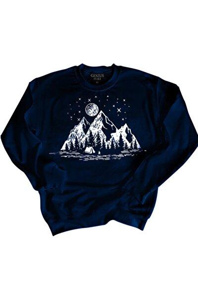 Store Erkek Baskılı Polar Sweatshırt 3 Iplik Kumaş Kış Sezonu