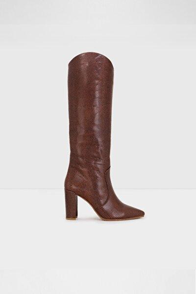Kadın Kahverengi Topuklu Çizme