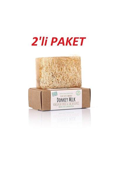 %100 El Yapımı Doğal Kabak Lifli Eşek Sütü Sabunu 2'li Paket 120 Gr.x 2 Adet