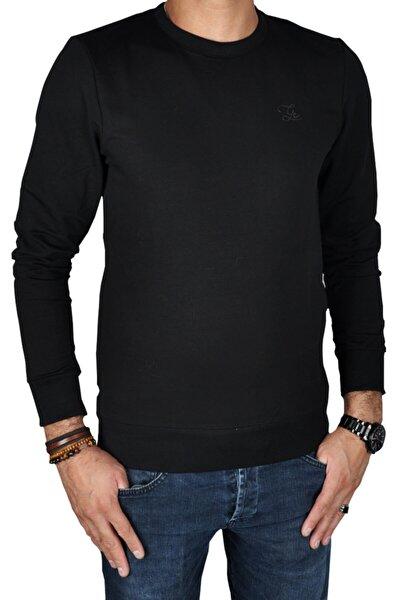 Erkek Siyah Uzun Kollu Sweatshirt  St05