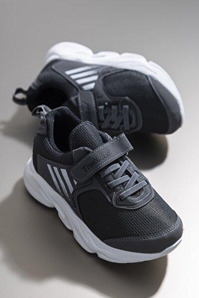 Füme Siyah Unisex Çocuk Sneaker TBZ05-3