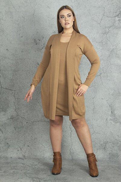 Kadın Vizon Ön Kısmı Elbiseli Hırka 65N19811