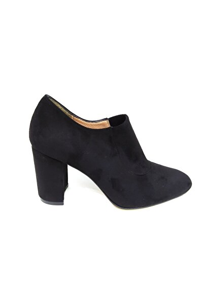 Kadın Siyah Kapalı Topuklu Ayakkabı