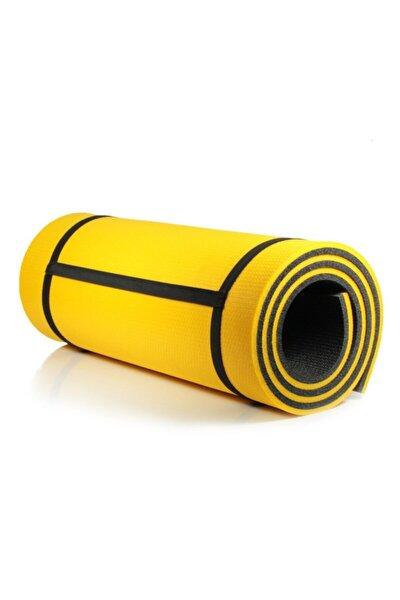 Pilates Matı Yoga Matı Kamp Matı Ultra Kalın 16 Mm Sarı Siyah Boy 180 Cm En 60 Cm Kalınlık 16 Mm