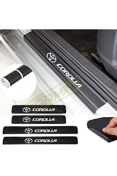 Toyota Corolla Karbon Kapı Eşiği Oto Sticker 4 Adet