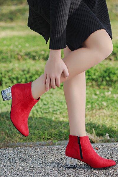 D8660 Günlük Şefaf Topuklu Kadın Bot