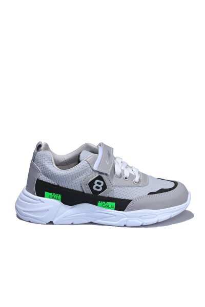 Gri Yeşil Çocuk Spor Ayakkabı