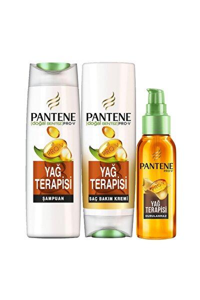 Doğal Sentez Yağ Terapisi Bakım Seti (Şampuan + Krem + Yağ)