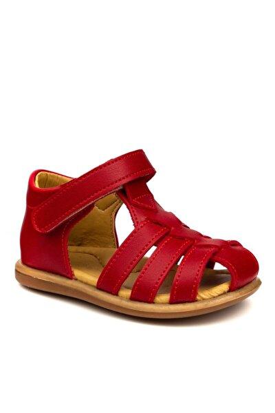 Kız Bebek Kırmızı Sandalet