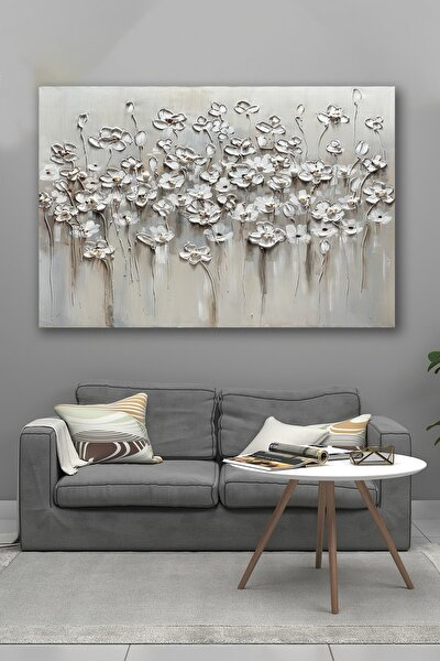 90x130 Soğuk Çiçekler Kanvas Tablo