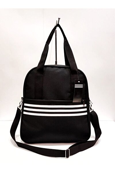Kadın Siyah Beyaz Çizgili Çanta
