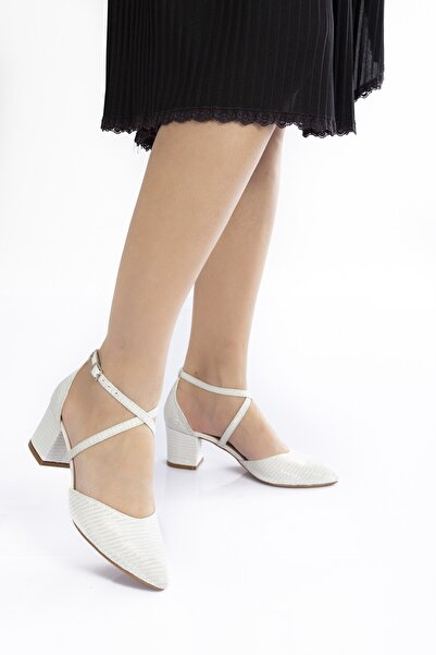 Sedef Mercan Topuklu Kadın Klasik Ayakkabı 710cnr